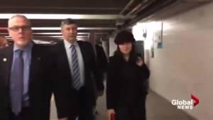Huawei CFO Meng Wanzhou arrives at court