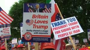 Pro-Trump supporters defend Donald Trump's visit to U.K.