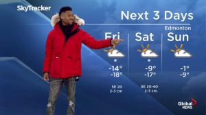 Comedian London Brown delivers the weather forecast
