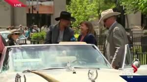 Paul Brandt and Jann Arden 2016 Calgary Stampede Parade marshals