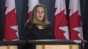Foreign Affairs Minister Freeland outlines what USMCA means for Canada