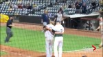 Pitcher rushes to console childhood friend moments after striking him out
