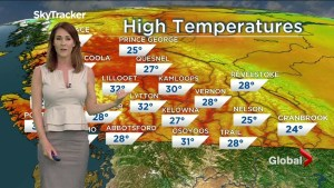 B.C. evening weather forecast: May 10