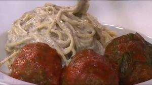 Truffle Spaghetti and Meatballs