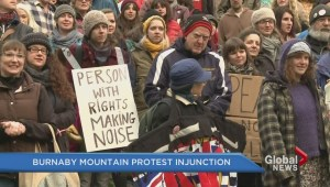 Burnaby Mountain protest injunction