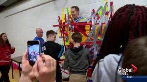 Calgary students duct tape teachers to support classmate