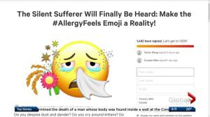 Group pushes for approval of allergy Emoji