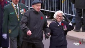 Canadian veterans applauded by thousands as they march in Ottawa