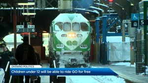 GO Transit announces free fares for children under 12