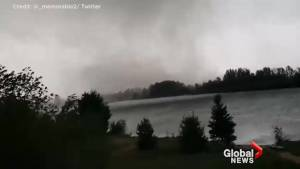 Dark storm clouds captured on video as tornado touches down in Dunrobin