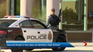 Hamilton school threatened 2 days in a row