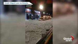 Freak hail storm blankets Guadalajara in ice