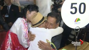 Tears, joy as Korean families separated by war briefly reunite after 65 years