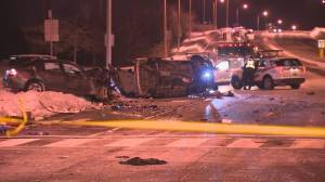 Multi-vehicle crash leaves 1 man dead and 2 others injured in Scarborough
