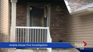 Fire crews investigating blaze in Airdrie, neighbours think is suspicious