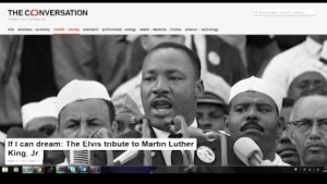 Robert Morrison pens a new blog citing Elvis Presley's respect and admiration for Martin Luther King, Jr.
