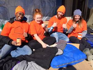 Students live outside in support of 5 Days for the Homeless