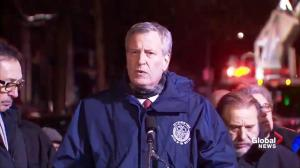 12 dead in New York City apartment fire: Mayor de Blasio