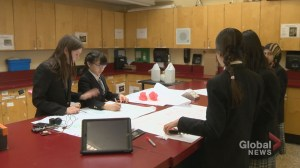 Calgary Grade 6 students prepare to send weather balloon into stratosphere