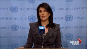 Haley praises protesting Iranians, says protests 'spontaneous' (01:39)