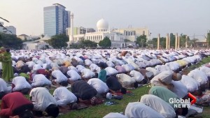 Muslims around the world celebrate Eid al-Fitr