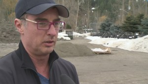 Flooding preparations in Lumby, B.C.