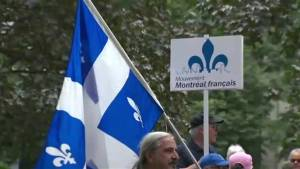 Quebecers mark 40 years of Bill 101 (01:49)