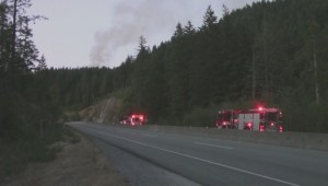 Fire burns above Horseshoe Bay, and it may have been campers