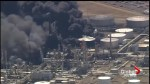 Fire rages after explosion at Canadian-owned oil refinery in Wisconsin