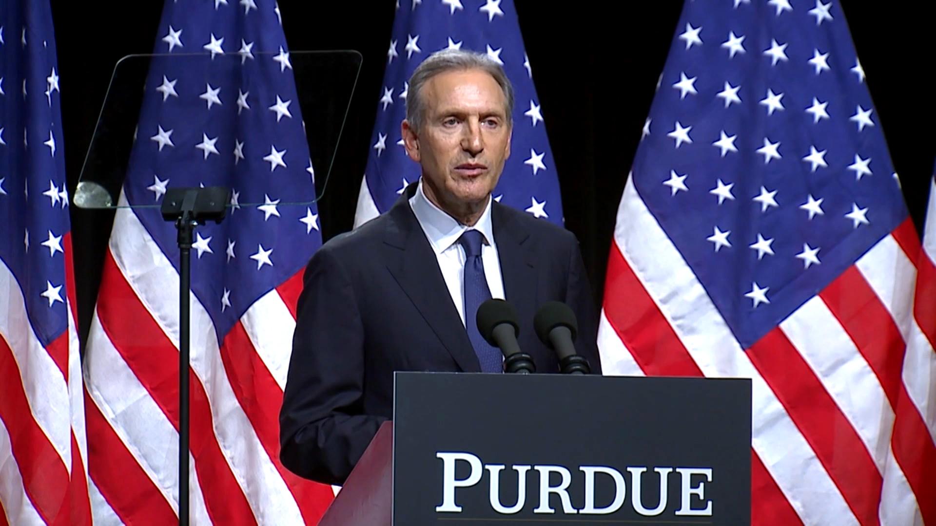Ex-Starbucks CEO Howard Schultz ends independent bid for president