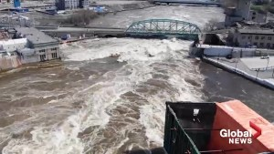 Powerful video shows Ottawa River's force near Chaudière Falls generating facilities