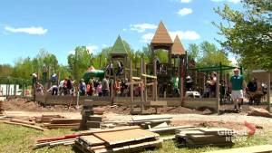 Construction of Becca Schofield play park a community effort