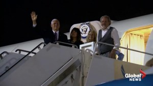 Mike Pence arrives in Hawaii ahead of return of U.S. remains from North Korea