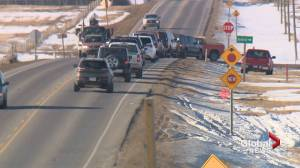Alberta drivers raise concerns about a new 4-way stop on highway near Balzac
