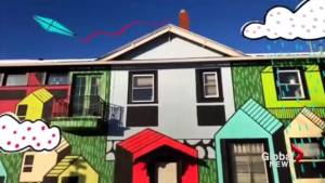 Local artists create Calgary's first augmented reality mural (00:29)