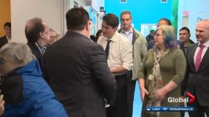 Justin Trudeau visits seniors in Edmonton's Mill Woods area Thursday