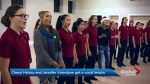 Cheryl Hickey, Jennifer Valentyne get a vocal lesson from Toronto Children's Chorus