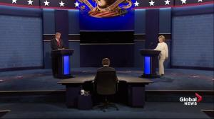 Presidential debate: Hillary Clinton and Donald Trump don't shake hands again