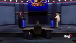 Presidential debate: Hillary Clinton and Donald Trump don't shake hands again