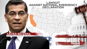 California, 15 other states sue Donald Trump over emergency declaration