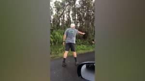 Video captures man in Hawaii shooting at neighbour near Kilauea lava flow