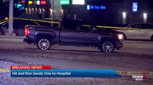 Hit and run sends man to hospital