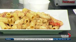 The Green Bean in the Global Edmonton kitchen: Chicken & shrimp pasta