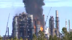 Fire continues to burn at Irving Oil refinery in Saint John
