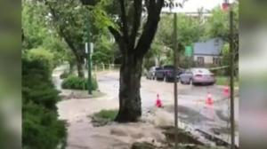 Huge water main break in East Vancouver