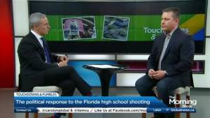 Backlash against Donald Trump over his response to the Florida high school shooting