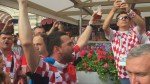 Party erupts in Moscow's Red Square as England, Croatia fans converge to watch World Cup semifinal