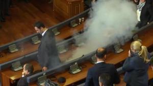 More tear gas set off inside Kosovo parliament