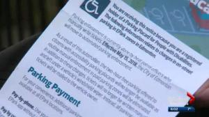 EPark notice on disability parking cardholder cars