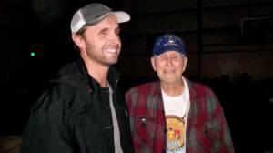 Man, grandfather reunited following California wildfires